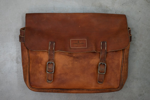 Americana Vintage Saddle Bag | Stone Washed Chestnut | Coronado Leather