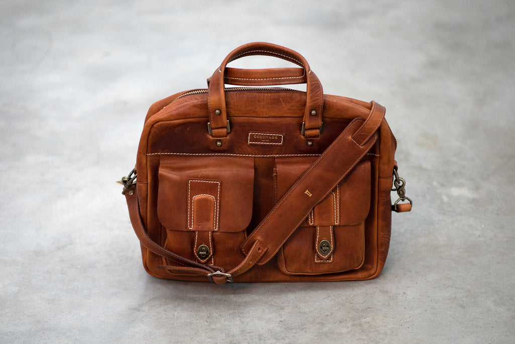 Americana CEO Briefcase | Chestnut | Coronado Leather