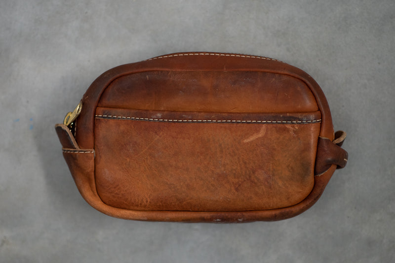 Vintage Stone Washed Dopp #190 | Coronado Leather - Manready Mercantile