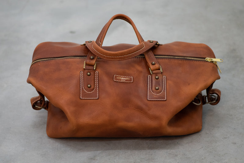 Americana Duffel #205 | Chestnut | Coronado Leather - Manready Mercantile