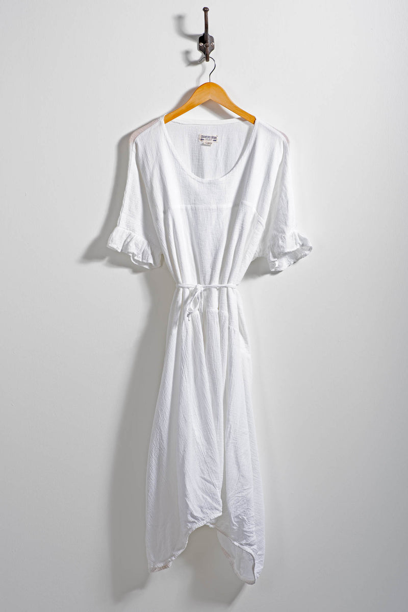 Women's Marche Dress | White Gauze | Crawford Denim & Vintage