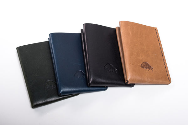 Ezra Arthur wallet tan card wallet whiskey bison manready mercantile