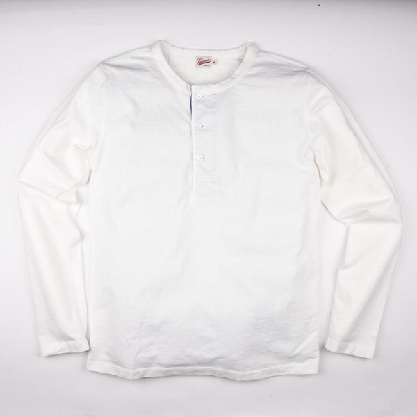 13 oz Henley L/S | White | Freenote Cloth