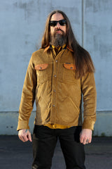 Eagle Rising Jacket | Corduroy + Leather | Indigofera