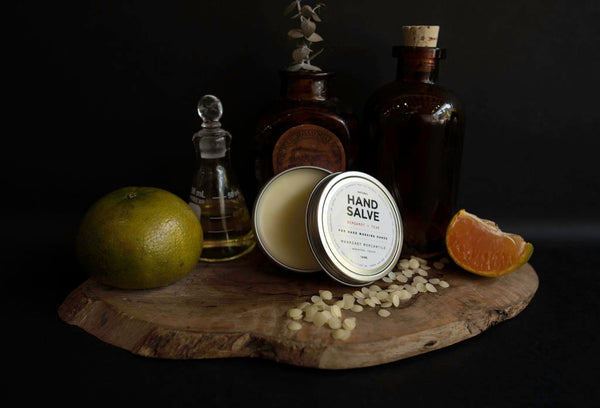 Manready Mercantile Bergamot and Teak Hand Salve available online at manready.com