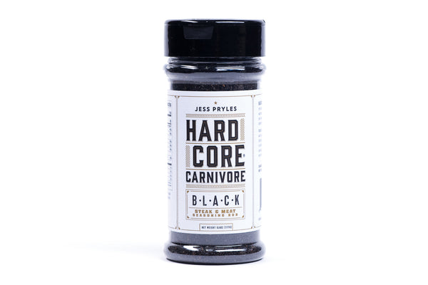 Hard Core Carnivore-seasoning-black-steak-meat-seasoning rub-jess pryles-manready mercantile_
