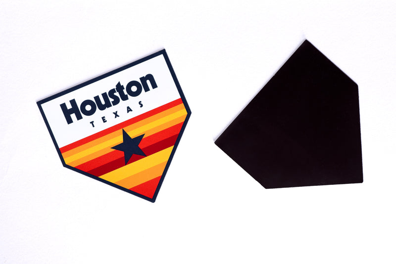 Magnet | Vintage Houston Homeplate | Manready Mercantile - Manready Mercantile
