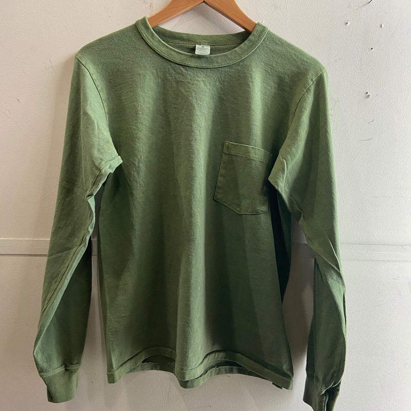 Pigment Dyed L/S Pocket Tee | Pine | Velva Sheen