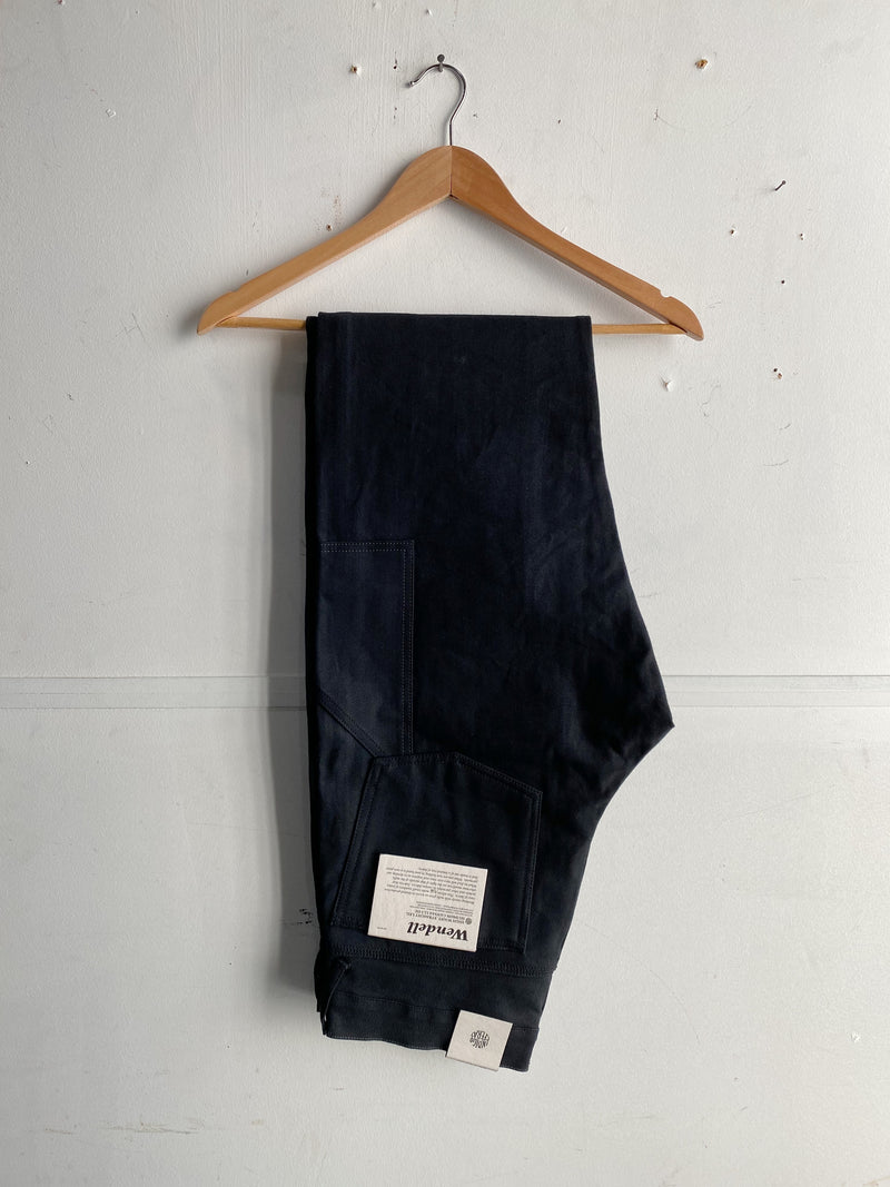 Wendell Pants | Hudson Canvas Black | Indigofera