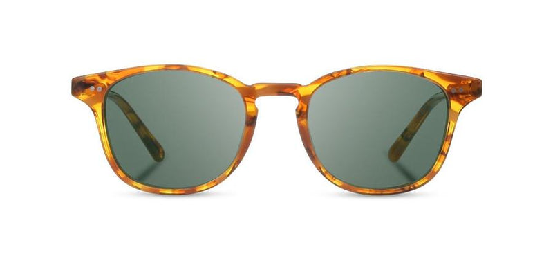 Kennedy Acetate Sunglasses | Cracked Amber | G15 Polarized | Shwood