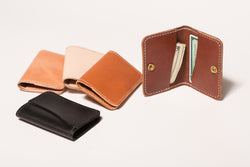 Manready Mercantile Leather Snap Front Pocket Wallet available at manready.com