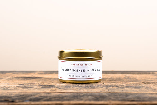 Manready Mercantile Frankincense and Orange Travel Candle Noble Series Soy Wax Fragrance Oils Apothecary