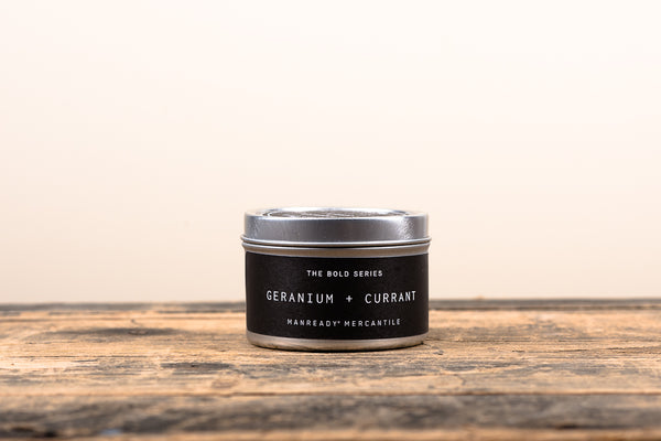 The Bold Series Soy Candle | Travel Size | Geranium + Currant | Manready Mercantile - Manready Mercantile
