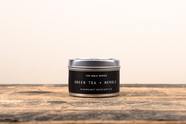 Manready Mercantile Green Tea and Neroli Travel Candle Bold Series Soy Wax Fragrance Oils Apothecary