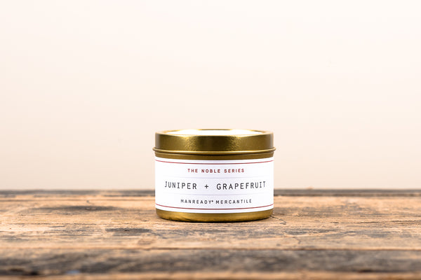 Manready Mercantile Juniper and Grapefruit Travel Candle Noble Series Soy Wax Fragrance Oils Apothecary
