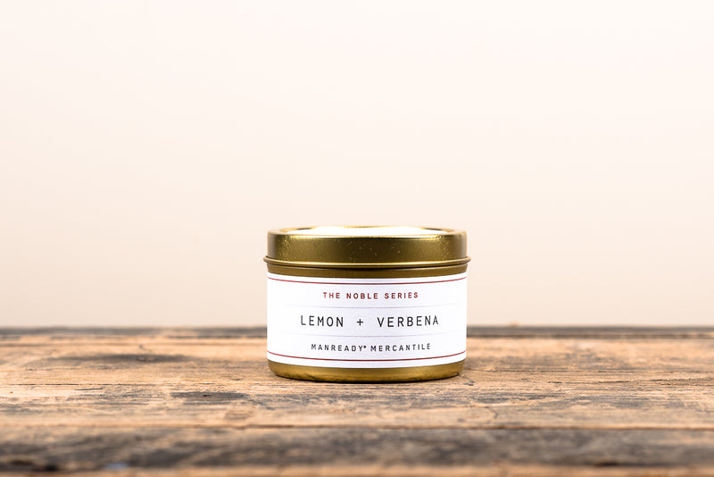 Manready Mercantile Lemon and Verbena Travel Candle Noble Series Soy Wax Fragrance Oils Apothecary