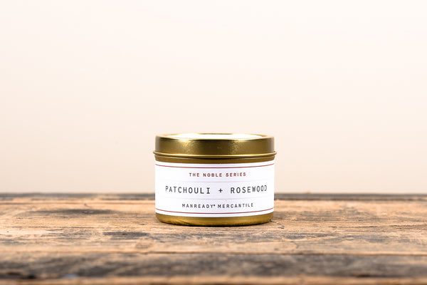 The Noble Series Soy Candle | Travel Size | Patchouli + Rosewood | Manready Mercantile - Manready Mercantile