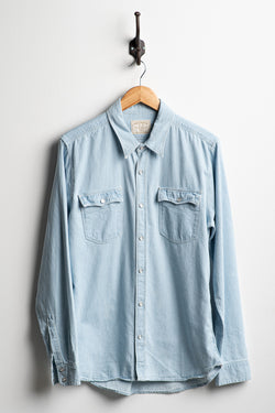 Lancaster Shirt | Bleached Denim | Freenote Cloth