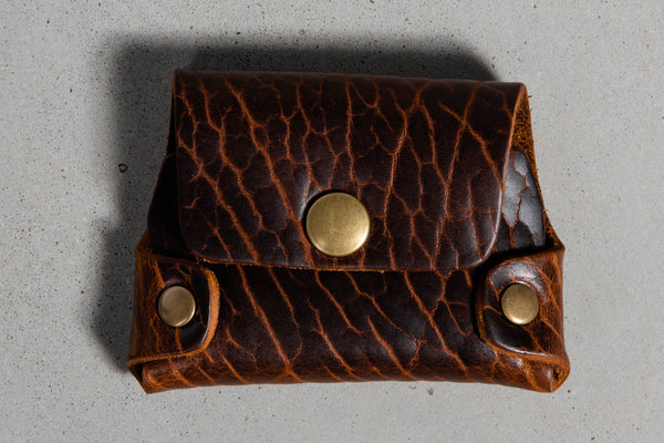 Coronado Leather Bison Cash and Card Wallet #652 available at Manready Mercantile