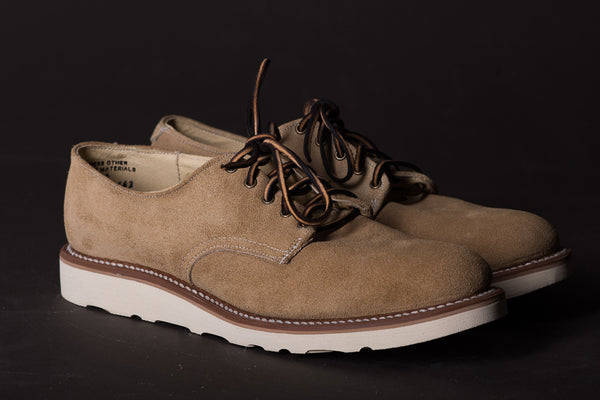 Derby Shoe | Tan Roughout | Mark Albert Boots