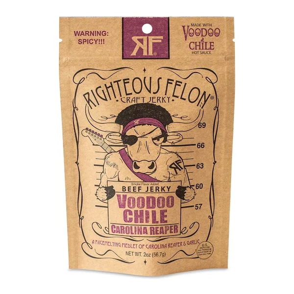 Voodoo Chile Beef Jerky | Righteous Felon Craft Jerky