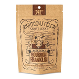 Bourbon Franklin Beef Jerky | Righteous Felon Craft Jerky