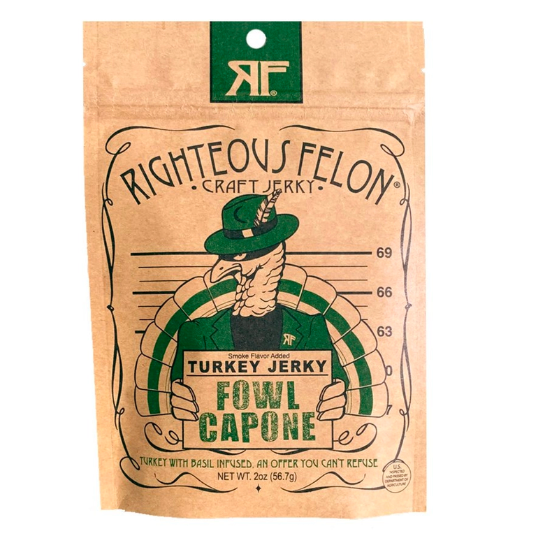 Fowl Capone Turkey Jerky | Righteous Felon Craft Jerky