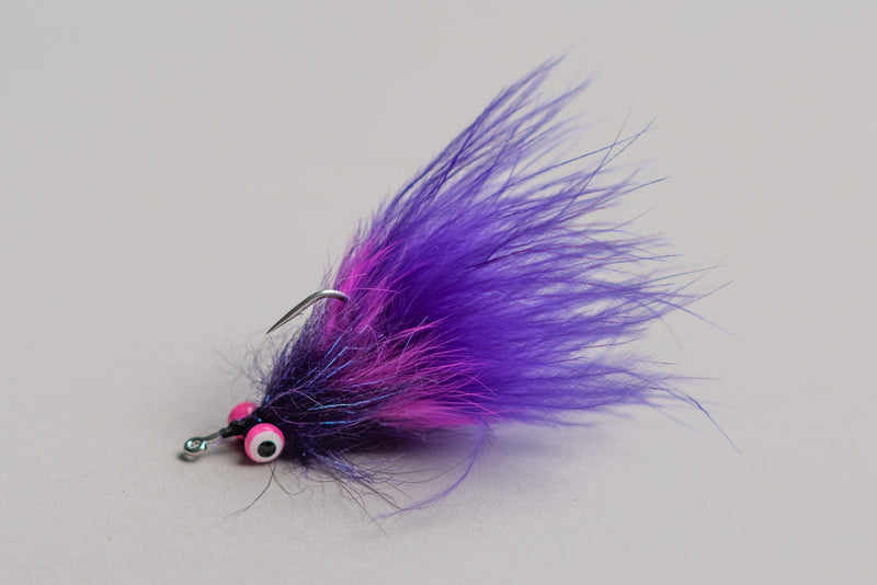 Hand Tied Boogie Man Fly in Purple by Mike Smith X Manready Mercantile available at manready.com