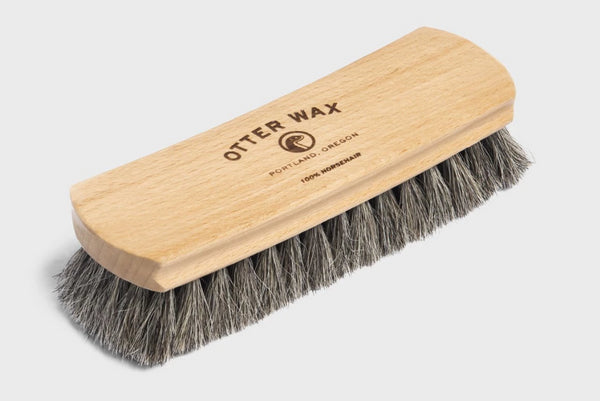 Otter Wax Premium Horsehair Shoebrush available at Manready Mercantile and manready.com