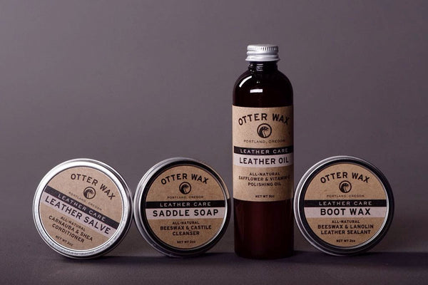 otter wax boots clean polish soap leather salve oil manready mercantile