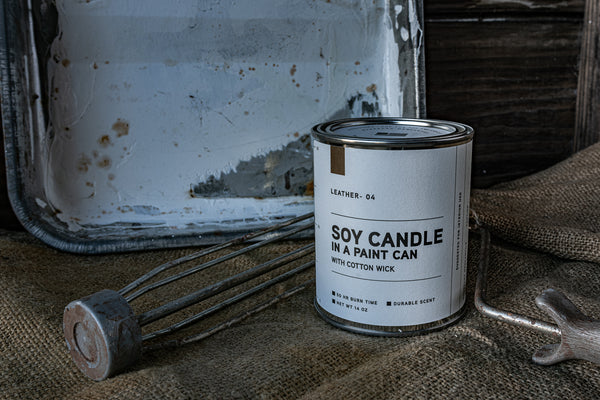 Paint Can Candle 04 | Leather | Manready Mercantile
