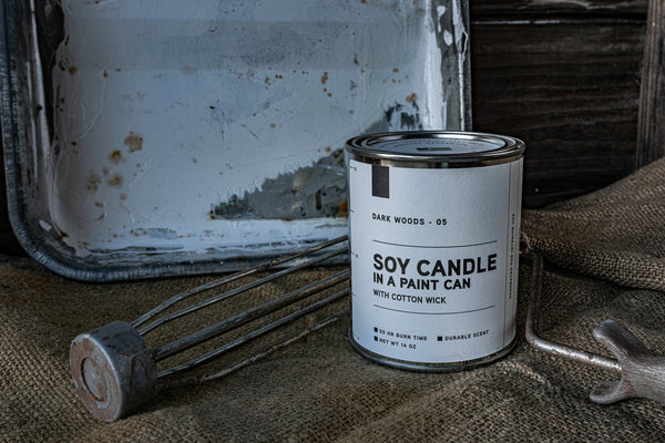 Paint Can Candle 05 | Dark Woods | Manready Mercantile