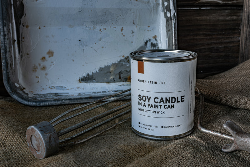 Paint Can Candle 06 | Amber Resin | Manready Mercantile - Manready Mercantile