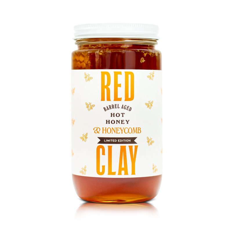 Hot Honey With Honeycomb | Red Clay