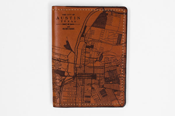 Map Passport Wallet | Austin | Tactile Craftworks