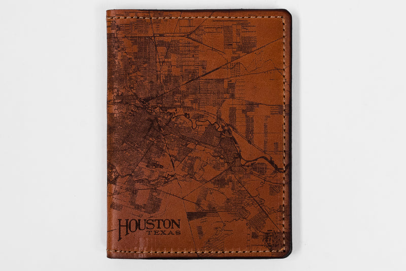 Map Passport Wallet | Houston | Tactile Craftworks - Manready Mercantile