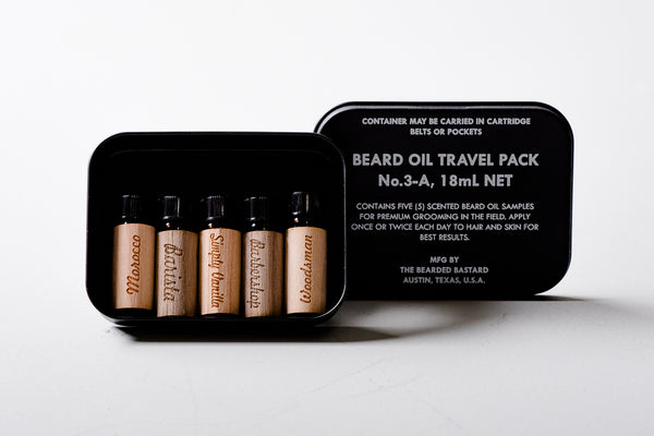 Beard Oil | Travel Pack | Bearded Bastard