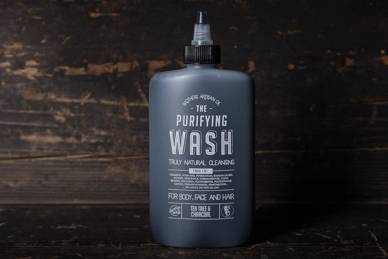 Brothers Artisan The Wash Tea Tree and Charcoal Face Body and Hair All In One All Natural Manready Mercantile