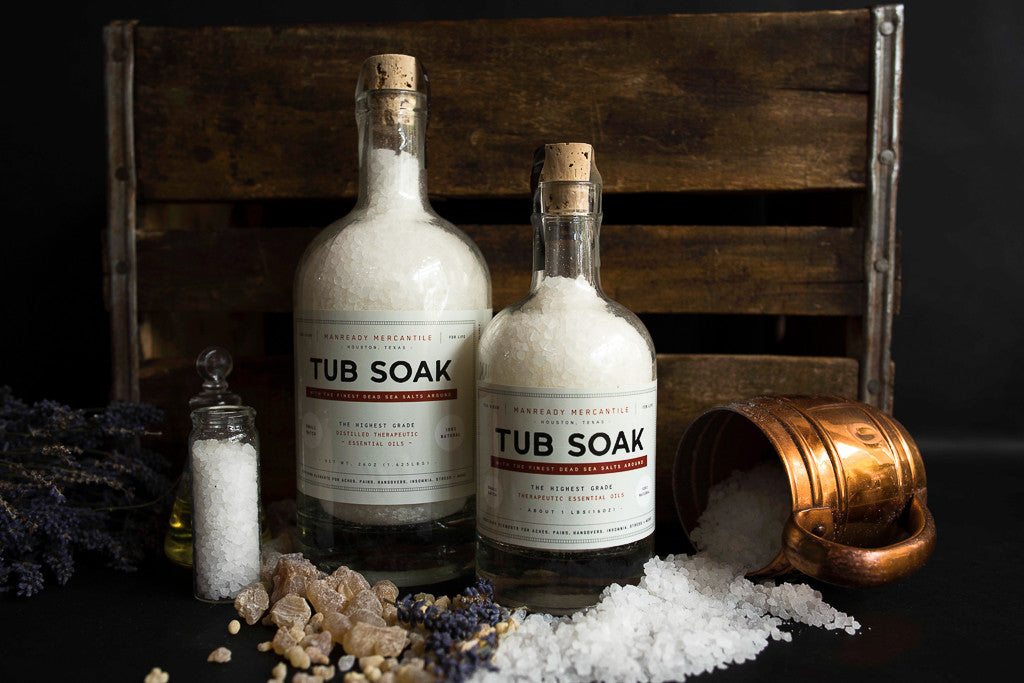 Tub Soak Bath Salts in Whiskey Bottles