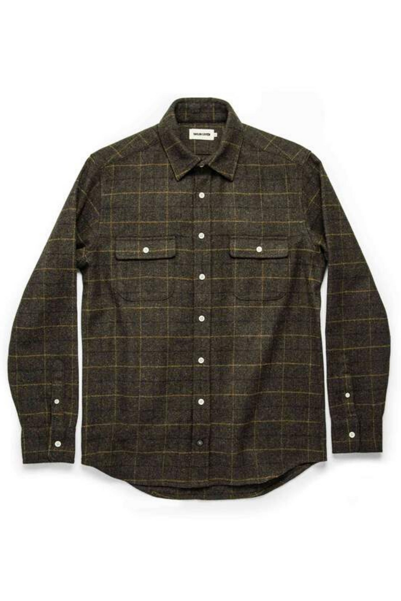 The Leeward Shirt | Olive Plaid | Taylor Stitch - Manready Mercantile