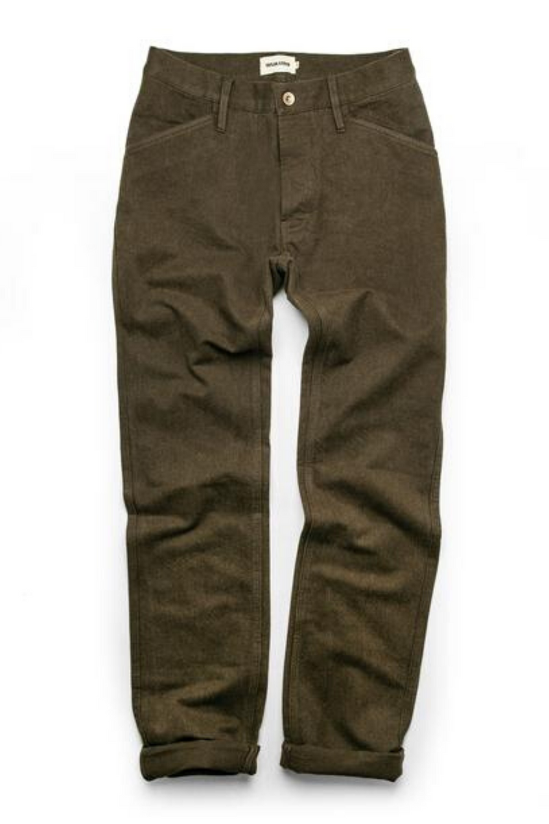 The Camp Pant | Heather Olive Twill | Taylor Stitch