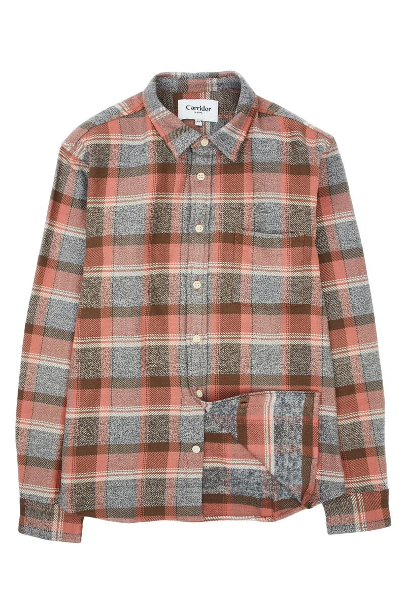 Blanket Plaid Longsleeve | Clay | Corridor - Manready Mercantile