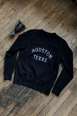 Gym Crew Fleece | Houston Texas | Black | Knickerbocker x Manready Mercantile