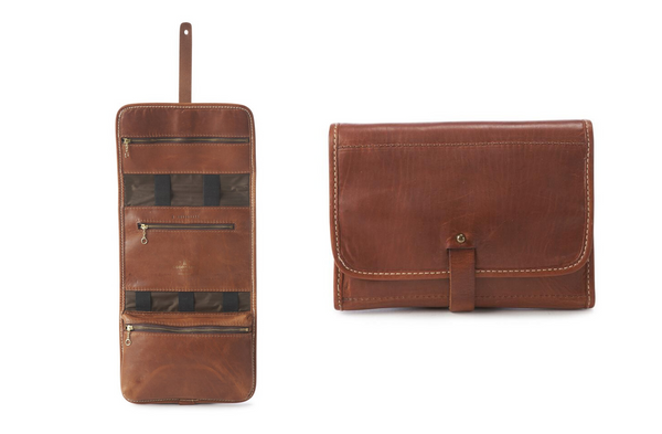 Americana Roll Dopp Kit #190 | Chestnut | Coronado Leather