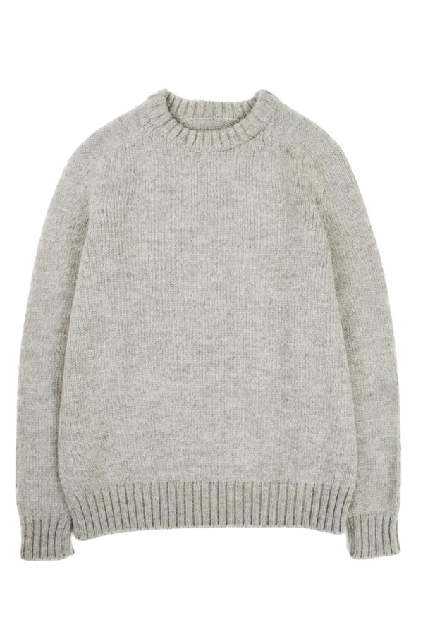 Highland Wool Crewneck | Harbor Grey | Corridor