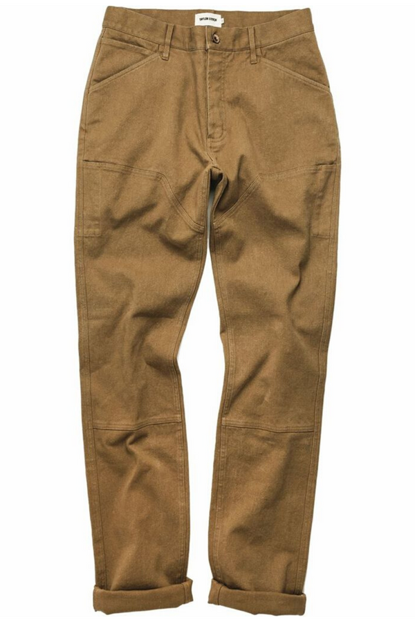 The Chore Pant | British Khaki Hemp Canvas | Taylor Stitch