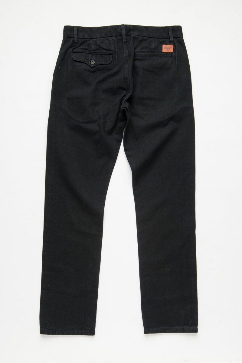 Workers Chino Slim Straight | Black | Freenote Cloth
