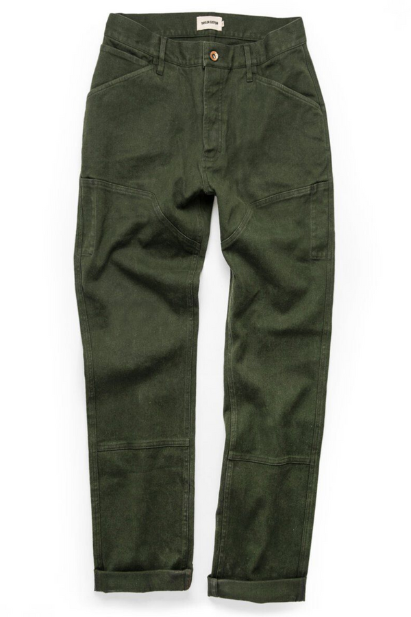 The Chore Pant | Dark Olive Hemp Canvas | Taylor Stitch