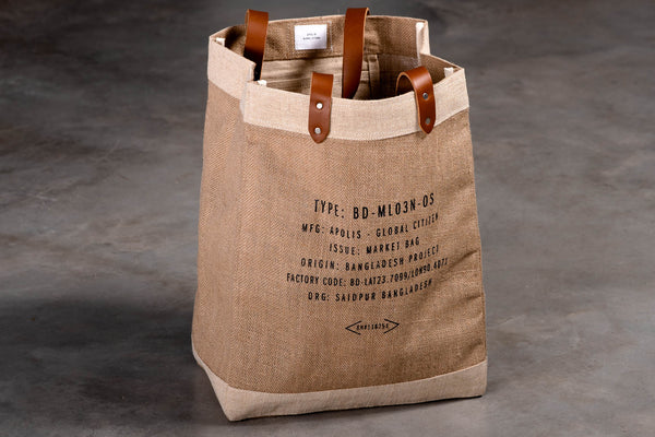 Houston Texas Market Bag | Natural | Apolis x Manready Mercantile