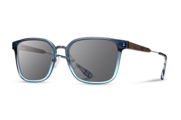 Baker Acetate Sunglasses | Mariner Blue Ebony Grey | Shwood - Manready Mercantile